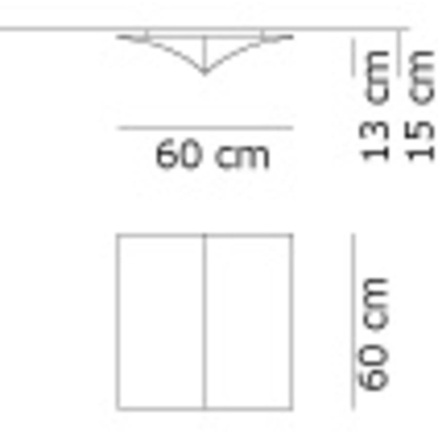 Wand-/plafondlamp Nell S 60 cm