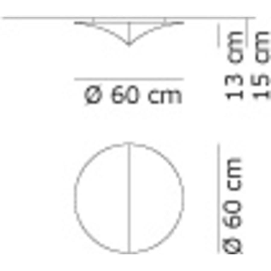 Wand-/plafondlamp Nell Ø 60 cm