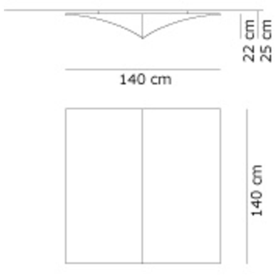 Wand-/plafondlamp Nell S 140 cm