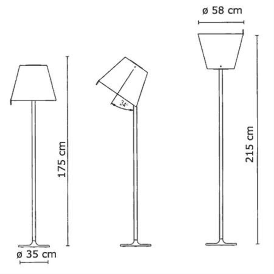 Vloerlamp Melampo Mega