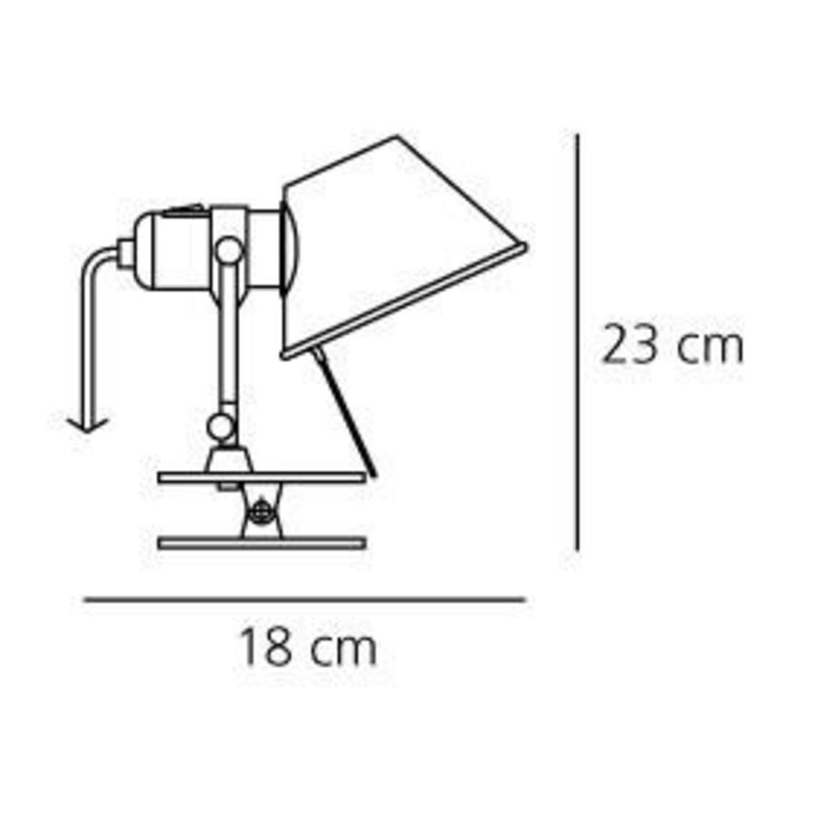 Wandlamp met klem Tolomeo Pinza Halogeen