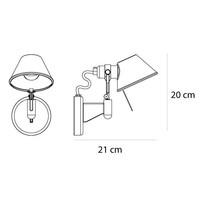 Wandlamp Tolomeo Micro Faretto Halogeen