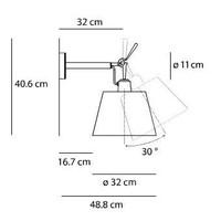 Wandlamp Tolomeo Parete Diffusore 32