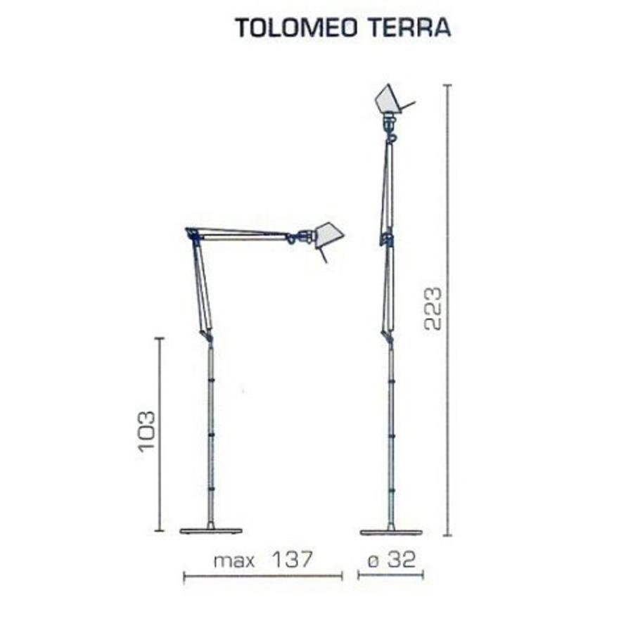 Vloerlamp Tolomeo LED