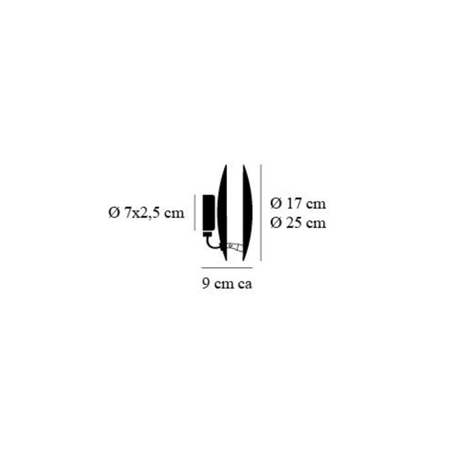 Wand-/plafondlamp Lederam W Ø 25 cm