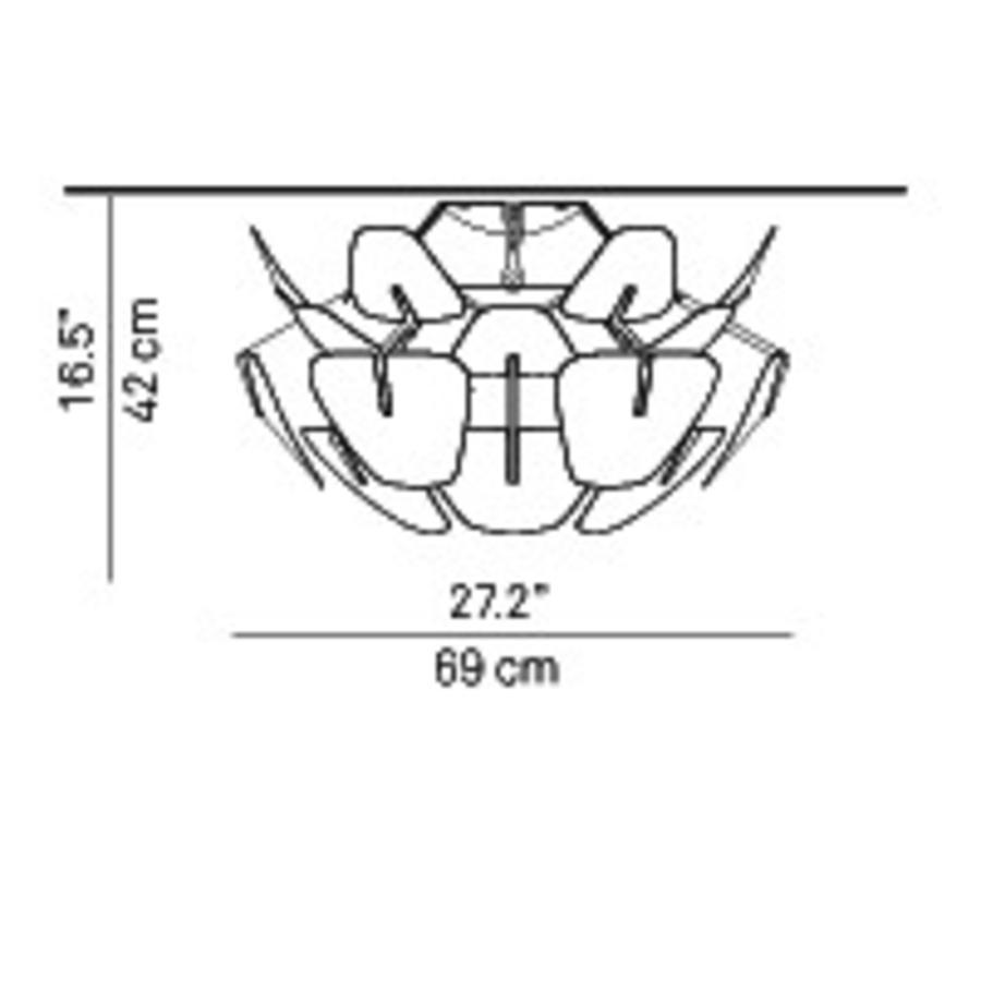 Plafondlamp Hope Ø 69 cm