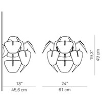 Wandlamp Hope Ø 61 cm