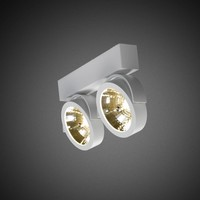2-lichts Opbouwspot Zoom 2 LED