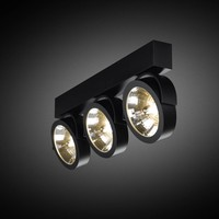 3- lichts Opbouwspot Zoom 3 LED