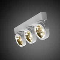 3- lichts Opbouwspot Zoom 3