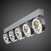 5-lichts Opbouwspot Zoom 5