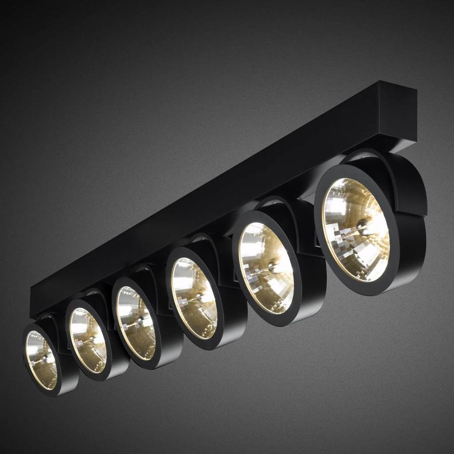 6-lichts Opbouwspot Zoom 6 LED