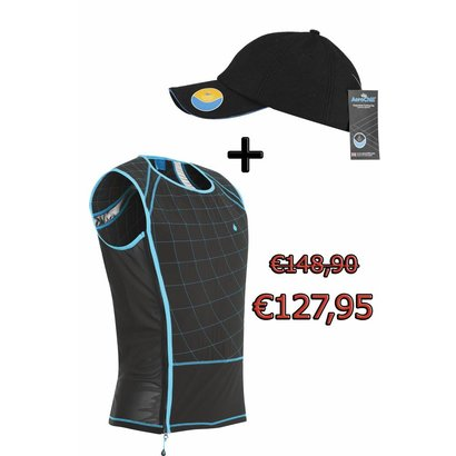 Hyperkewl Aerochill Fitness cooling vest Male+ Aerochill coolingcap