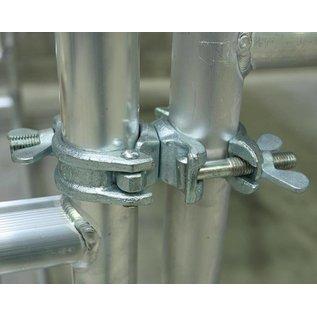 Drehkupplung / Gerüstkupplung Stahl für Maueranker