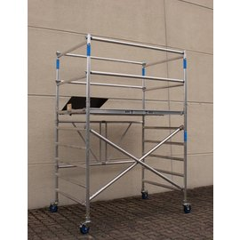 ASC ® Zimmerfahrgerüst XL-Knick, ZiFa, 3,9 m, extra große Arbeitsfläche