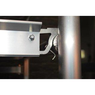 """CUSTERS ® Zimmerfahrgerüst """"Foldy"""", Rollgerüst, Plattform ohne Luke, TÜV/GS geprüft, 3,0 m"""