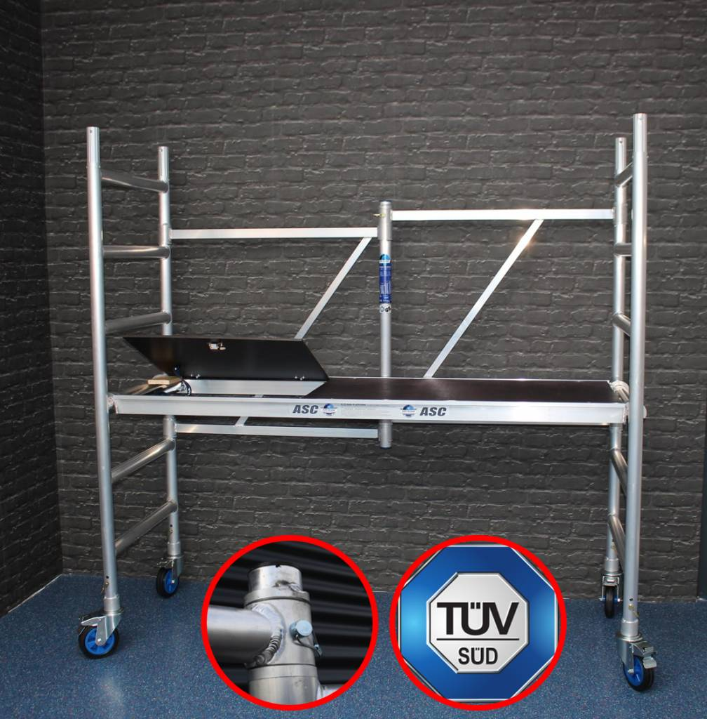 asc zifa rollger st zimmer fahrger st bis 3 0 m t v gs geruest rollger st neu. Black Bedroom Furniture Sets. Home Design Ideas