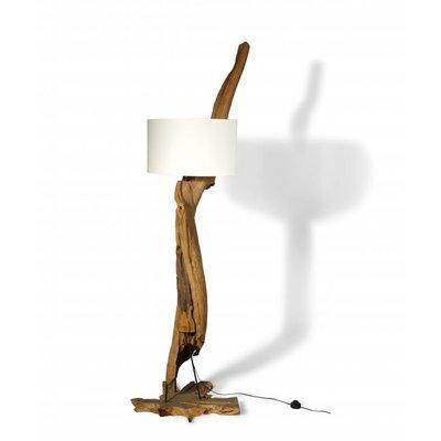 Teak Lampe Lengkung