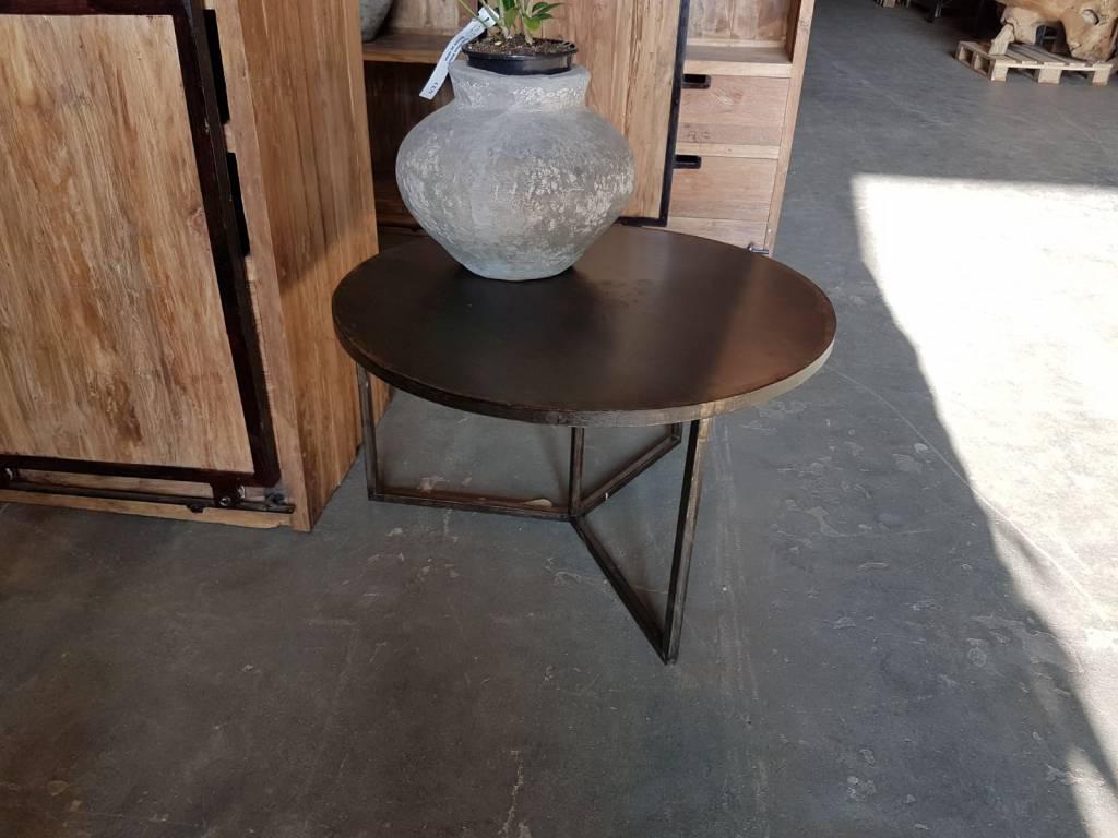 industrial tisch iron rund industriem bel allerm bel. Black Bedroom Furniture Sets. Home Design Ideas