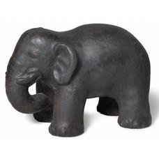 Skulptur Elefant Indien Eisen