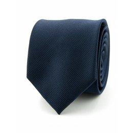 Zijde stropdas marine blauw