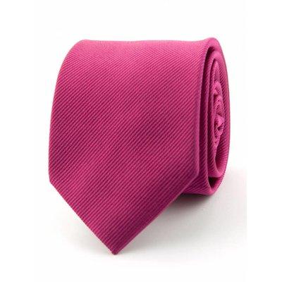 Zijde stropdas fuchsia