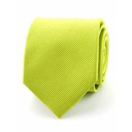 Zijde stropdas limegroen