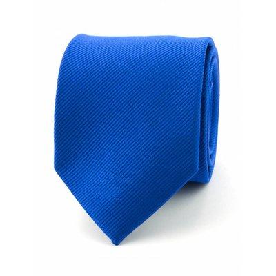 Zijde stropdas kobaltblauw