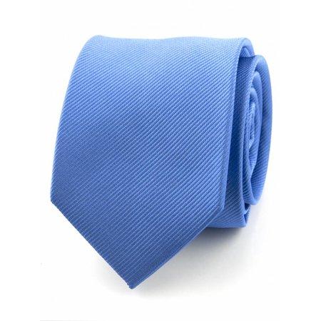 Zijde stropdas midden blauw