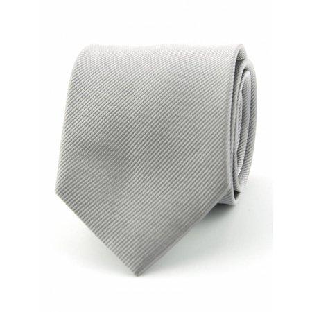 Zijde stropdas grijs