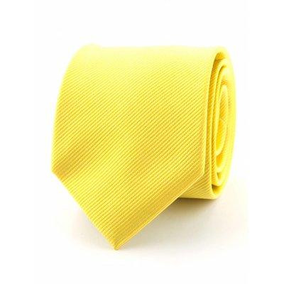 Zijde stropdas geel