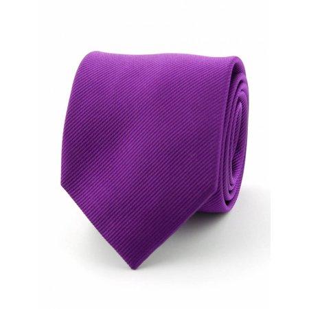 Zijde stropdas aubergine