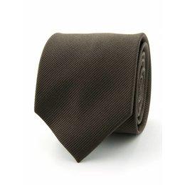 Zijde stropdas bruin