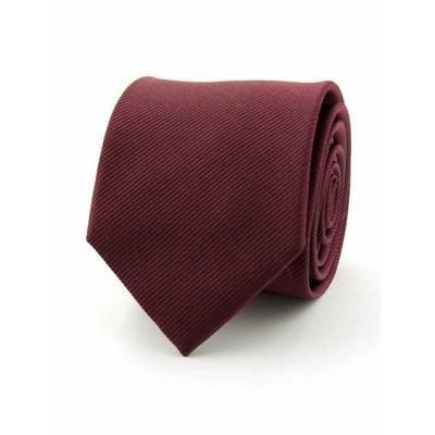 Zijde stropdas bordeauxrood