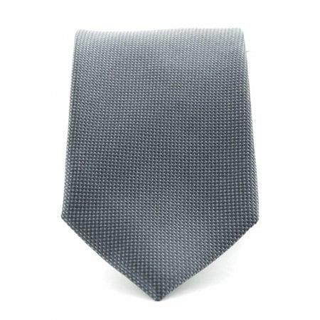 Zuiver zijde stropdas grijs