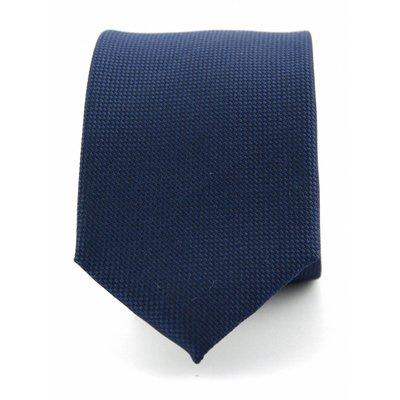 Stropdas marine blauw zuiver zijde