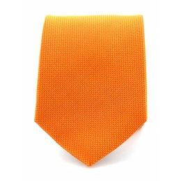Stropdas oranje zuiver zijde