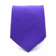 Stropdas paars zuiver zijde