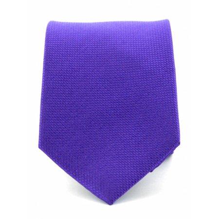 zuiver zijde stropdas paars