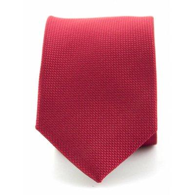 Stropdas rood zuiver zijde