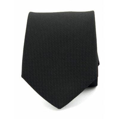 Stropdas zwart zuiver zijde