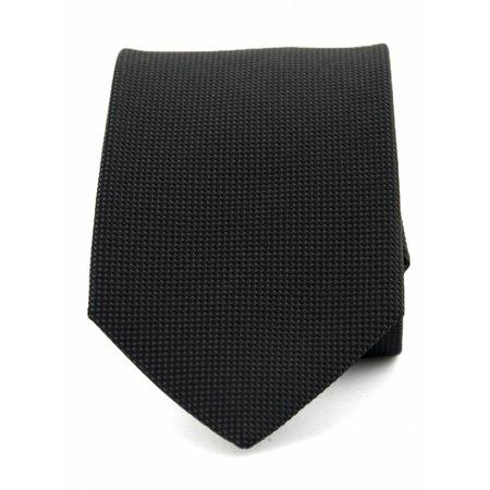 Zuiver zijde stropdas zwart