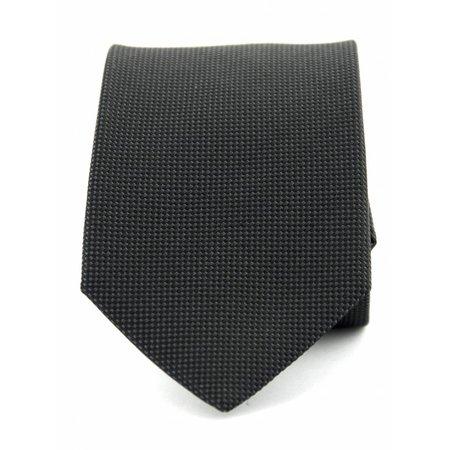 Zuiver zijde stropdas antraciet
