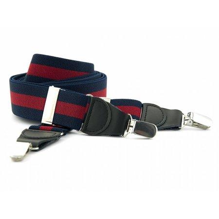 Bretels marineblauw/rood