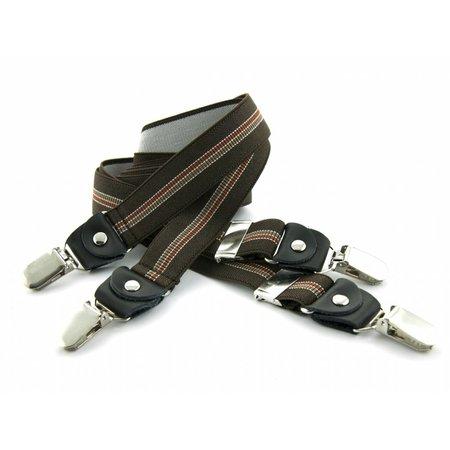 Bretels bruin 25mm