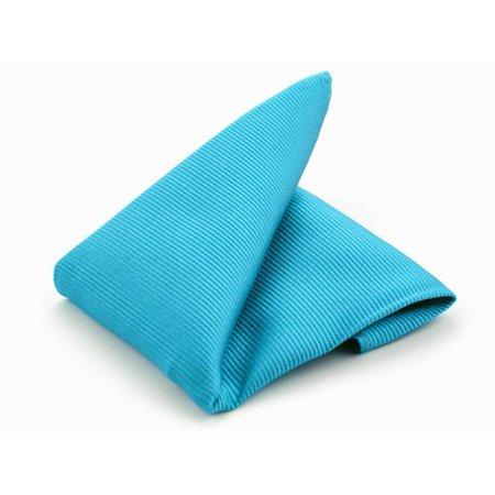 Pochet turquoise zijde geweven