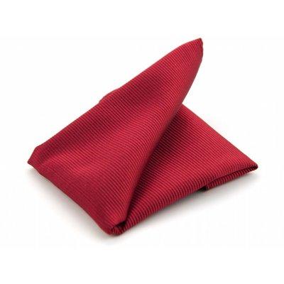 Pochet rood zijde geweven