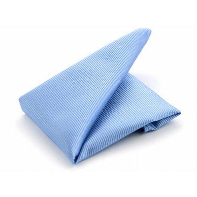 Pochet lichtblauw zijde geweven