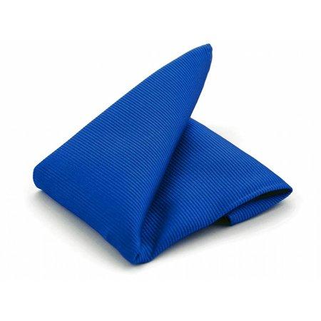 Pochet kobaltblauw zijde geweven