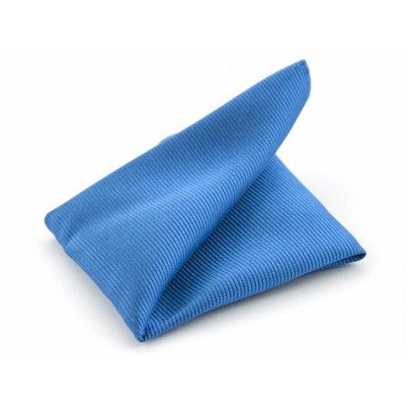 Pochet process blue zijde geweven